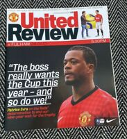 Manchester United v Fulham FA Cup 26/1/2013! FREE UK DELIVERY! LAST ONE!!!