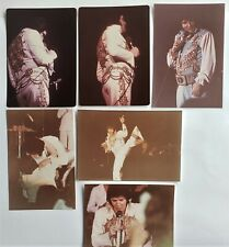 Elvis Presley - 6 Original Concert Photos - 1976 & 1977 - Set 3