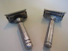 Lot of 2 Vintage Single Edge Razors Flip Top Gem