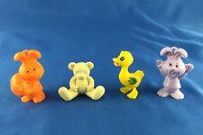 Vintage Toy Plastic Easter Animals Figure Charm Lot Bunny Rabbit Duck Teddy Bear