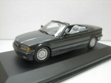 Diecast E36 Minichamps 1:43 BMW 3-Series Cabriolet in Black Mint on Display