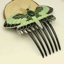 Rose's Hair slide TITANIC Antique Reproduction Butterfly Hair Clip Comb Enamel Y