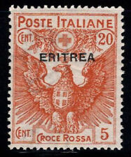 Eritrea 1916 Sass. 43 MNH 100% Red Cross, 20 out of 15 cents + 5 c