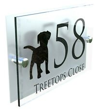 Dog House Sign Custom Made Personalised Home Plaque Door Number Street Address