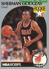 164 SHERMAN DOUGLAS ROOKIE MIAMI HEAT CARD CARTE BASKETBALL NBA HOOPS 1990