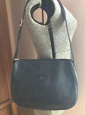 Fendi Vintage Black Leather Shoulder Bag Italy