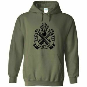 Springfield Armory Black Logo Hoodie Sweatshirt 2nd Amendment Pro Gun Rights New