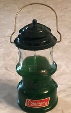 "Avon Green Coleman Lantern Deep Woods Cologne Empty Bottle Lantern Shape 5"" Wire"