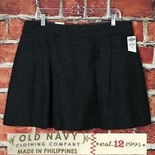 Old Navy Women Pleated Short Mini Skirt Size 12 Charcoal Gray Wool Blend Lined