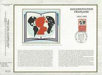 Foglio CEF 1er Giorno Sul Seta Francia La Documentazione Francese 1985