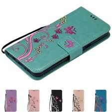 Buttery Flower PU Leather Flip Card Strap Wallet Cover Case For Samsung Galaxy N