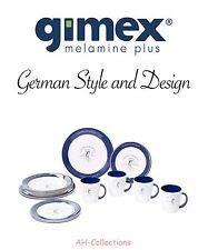 Gimex Melamin 16-tlg. Camping Geschirr Set Blue Marlin mit Becher Dinnerware
