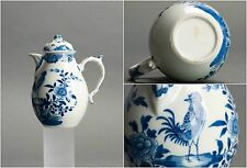Beautiful! 18C Qianlong Chinese Porcelain Pot & Lid 'Rooster' 'Peach'