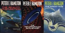 The Reality Dysfunction Night's Dawn Trilogy Peter F. Hamilton 3 Vols 1st UK HCs