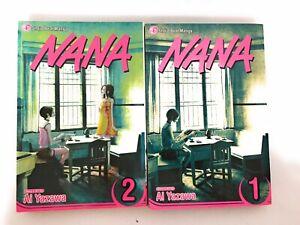 Nana Manga English Lot 1-2 Shojo Beat 1st Printings Volumes 1 2 RARE OOP