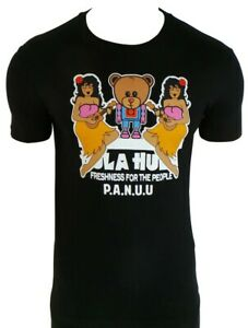 P.A.N.U.U. Black Hula T-shirt/ PANUU/ Size Small/ BNWT/ Freshness for the people