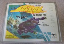 "Vintage Spectrum 48k 1980s Cassette Video Game 4"" X 5.5"" Sanxion Thalamus Scifi"