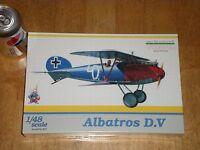 WW1, German Albatros D.V  Fighter Plane, Plastic Model Kit,Scale 1:48