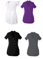 Women's Tunic  Hairdressing SPA Therapist Massage Salon Uniform  8-10 to 24-26 U