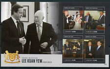 Liberia 2015 MNH Prime Minister Lee Kuan Yew 4v M/S Queen Elizabeth II Stamps