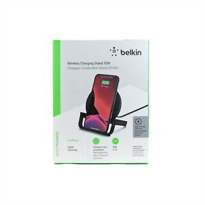 BELKIN BOOST CHARGE WIRELESS CHARGING STAND 10W FOR IPHONE 12 11 PRO WIB001BTBK