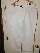 NWT 'Talbots' White Cotton Blend Denim 5-Pocket Boyfriend Pants- Size 22W