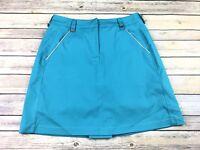 Tail Size 4 Blue Paneled 4 Pocket Athletic A-Line Golf Skort 871 ST121D
