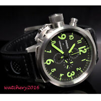 50mm PARNIS Schwarz dial Green marks Date Automatisch movement Uhr men's Watch