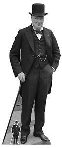 Winston Churchill Lebensechte Größe Und Mini Pappfigur/Aufsteller/Aufstell