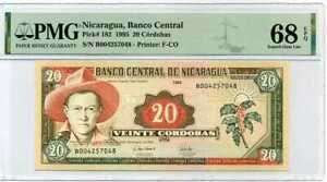 NICARAGUA 20 CORDOBAS 1995 P 182 SUPERB GEM UNC PMG 68 EPQ TOP POP