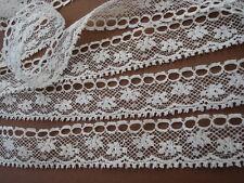 petite dentelle ancienne écru  -  coton  11 mètres environ