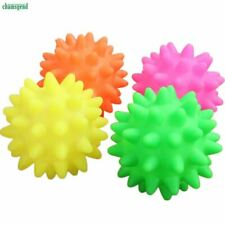 Chamsgend 1pc Dog Toys Beautiful New Rubber Ball Toy Dog Pet Fun Spikey Ball Bit