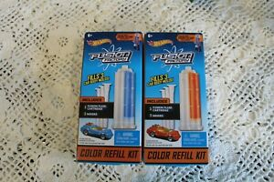 Hot Wheels Factory Fusion Color Refill Kits Blue and Red (2) New
