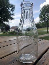 Rare Vtg Embossed Mac Ferree Milk Bottle Jeannette Pa One Qt *Excellent Shape*