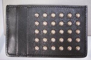 New Alexander Mcqueen Men's Wallet Credit Card Holder Studded