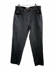 Bulls Head Stretch Denim Jeans Men Size 36 Black Zip Close Pockets Button Casual