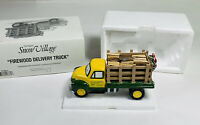 Department 56 Snow Village Firewood Delivery Truck Ceramic & Wood 54864