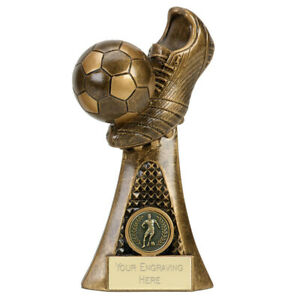 Ball & Boot Football Trophy 3 sizes Free Engraving up to 45 Letters A4011