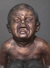 Bronze Satyr Mythology Sculpture Goat Signed Original  ( Crying Baby )
