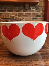 Vintage Arabia Finland Red White Heart Enamel Ware Bowl Kaj Franck