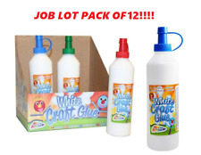 12 BOTTLES 250 ML TUBS SCOLA PVA MULTI-PURPOSE ECO WHITE GLUE WOOD & CRAFT
