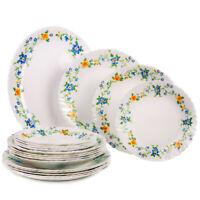 19 pc Luminarc Arcopal Cybele Glass Dinnerware Service Set Made in France