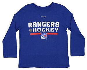 Reebok NHL Kids (4-7) New York Rangers Long Sleeve T-Shirt, Blue