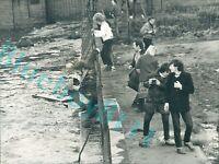 1983 crowds gather to watch Launch cargo ship  Hoegh Duke Wallsend Slipway