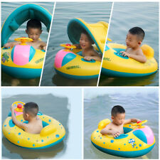 Baby Kid Swim Ring Inflatable Toddler Float Swimming Pool Water Seat with Canopy
