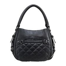 VISM  BWD001 QUILTED HOBO CCW PURSE BAG-BLACK