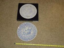 "Gien OISEAU BLEU 12"" Serving Plate Round Platter France With Origional Box"