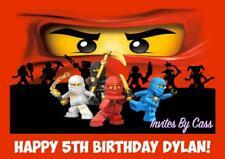 LEGO NINJAGO A4 EDIBLE IMAGE CAKE TOPPER BIRTHDAY PARTY KIDS