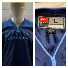 NIKE Team UNC TARHEELS V-Neck Pullover Size L Front Pockets WINDBREAKER