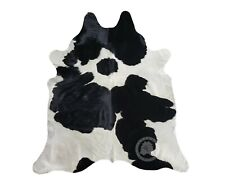 New Cowhide Rug Leather Cow Skin BLACK AND WHITE  Cow Hide Upholstery